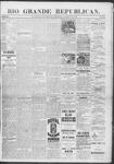 Rio Grande Republican, 10-19-1889 by Charles Metcalfe