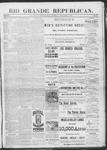 Rio Grande Republican, 11-02-1889 by Charles Metcalfe