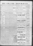 Rio Grande Republican, 11-09-1889 by Charles Metcalfe