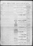 Rio Grande Republican, 11-16-1889 by Charles Metcalfe