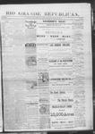 Rio Grande Republican, 11-23-1889 by Charles Metcalfe