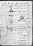 Rio Grande Republican, 11-30-1889 by Charles Metcalfe