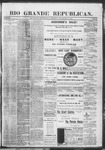 Rio Grande Republican, 12-28-1889 by Charles Metcalfe