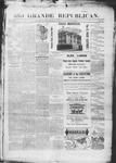 Rio Grande Republican, 08-23-1890 by Charles Metcalfe