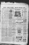 Rio Grande Republican, 08-30-1890 by Charles Metcalfe