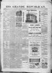 Rio Grande Republican, 09-27-1890 by Charles Metcalfe