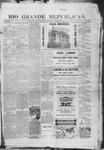 Rio Grande Republican, 10-11-1890 by Charles Metcalfe