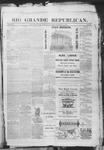 Rio Grande Republican, 10-18-1890 by Charles Metcalfe