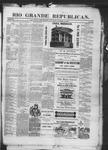 Rio Grande Republican, 10-25-1890 by Charles Metcalfe