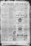 Rio Grande Republican, 11-01-1890 by Charles Metcalfe