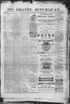 Rio Grande Republican, 11-08-1890 by Charles Metcalfe