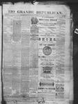 Rio Grande Republican, 11-15-1890 by Charles Metcalfe