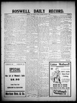 Roswell Daily Record, 01-13-1908 by H. E. M. Bear