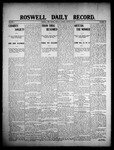 Roswell Daily Record, 01-20-1908 by H. E. M. Bear