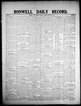 Roswell Daily Record, 01-25-1908 by H. E. M. Bear