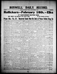 Roswell Daily Record, 02-18-1908 by H. E. M. Bear