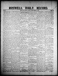 Roswell Daily Record, 02-22-1908 by H. E. M. Bear