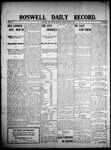 Roswell Daily Record, 04-21-1908 by H. E. M. Bear