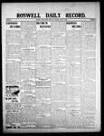 Roswell Daily Record, 08-06-1908 by H. E. M. Bear