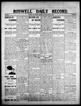Roswell Daily Record, 08-27-1908 by H. E. M. Bear