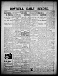 Roswell Daily Record, 09-14-1908 by H. E. M. Bear