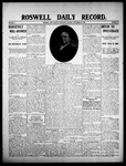 Roswell Daily Record, 09-23-1908 by H. E. M. Bear
