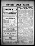 Roswell Daily Record, 01-12-1909 by H. E. M. Bear
