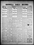 Roswell Daily Record, 01-20-1909 by H. E. M. Bear
