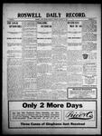 Roswell Daily Record, 01-21-1909 by H. E. M. Bear