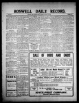 Roswell Daily Record, 01-22-1909 by H. E. M. Bear
