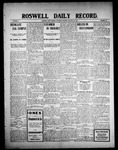 Roswell Daily Record, 01-23-1909 by H. E. M. Bear
