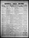 Roswell Daily Record, 01-25-1909 by H. E. M. Bear