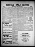 Roswell Daily Record, 01-28-1909 by H. E. M. Bear