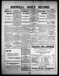 Roswell Daily Record, 02-08-1909 by H. E. M. Bear