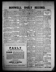 Roswell Daily Record, 03-11-1909 by H. E. M. Bear