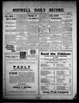 Roswell Daily Record, 03-12-1909 by H. E. M. Bear