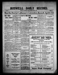 Roswell Daily Record, 03-16-1909 by H. E. M. Bear