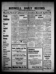 Roswell Daily Record, 03-20-1909 by H. E. M. Bear