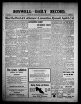 Roswell Daily Record, 03-22-1909 by H. E. M. Bear