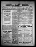 Roswell Daily Record, 03-23-1909 by H. E. M. Bear