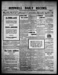 Roswell Daily Record, 03-24-1909 by H. E. M. Bear