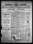 Roswell Daily Record, 03-25-1909 by H. E. M. Bear