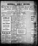 Roswell Daily Record, 03-26-1909 by H. E. M. Bear