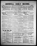 Roswell Daily Record, 03-27-1909 by H. E. M. Bear