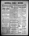 Roswell Daily Record, 03-29-1909 by H. E. M. Bear