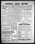Roswell Daily Record, 03-31-1909 by H. E. M. Bear