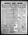 Roswell Daily Record, 04-01-1909 by H. E. M. Bear