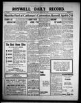 Roswell Daily Record, 04-02-1909 by H. E. M. Bear
