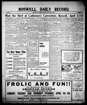 Roswell Daily Record, 04-05-1909 by H. E. M. Bear