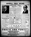 Roswell Daily Record, 04-08-1909 by H. E. M. Bear